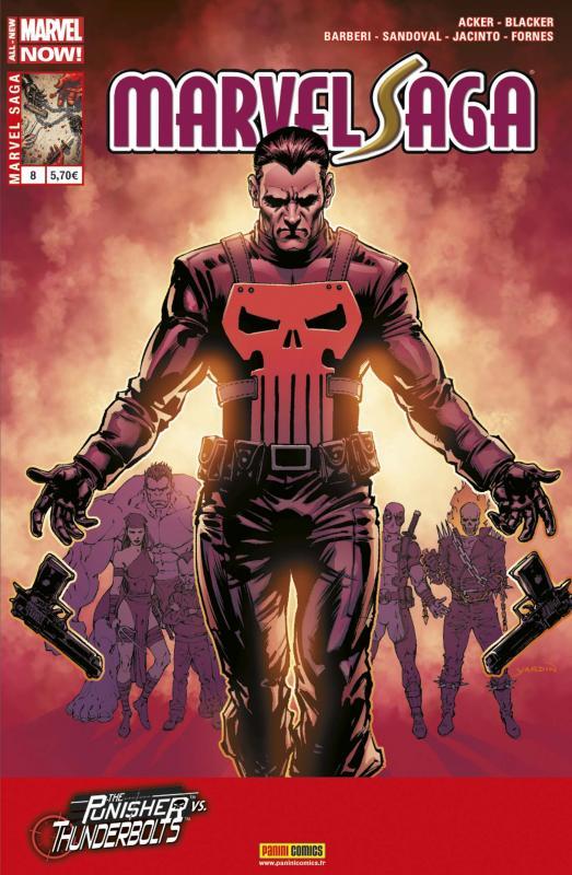 Marvel Saga – V 2, T8 : Le Punisher face aux Thunderbolts (0), comics chez Panini Comics de Acker, Blacker, Jacinto, Fornès, Barberi, Sandoval, Silva, Yardin