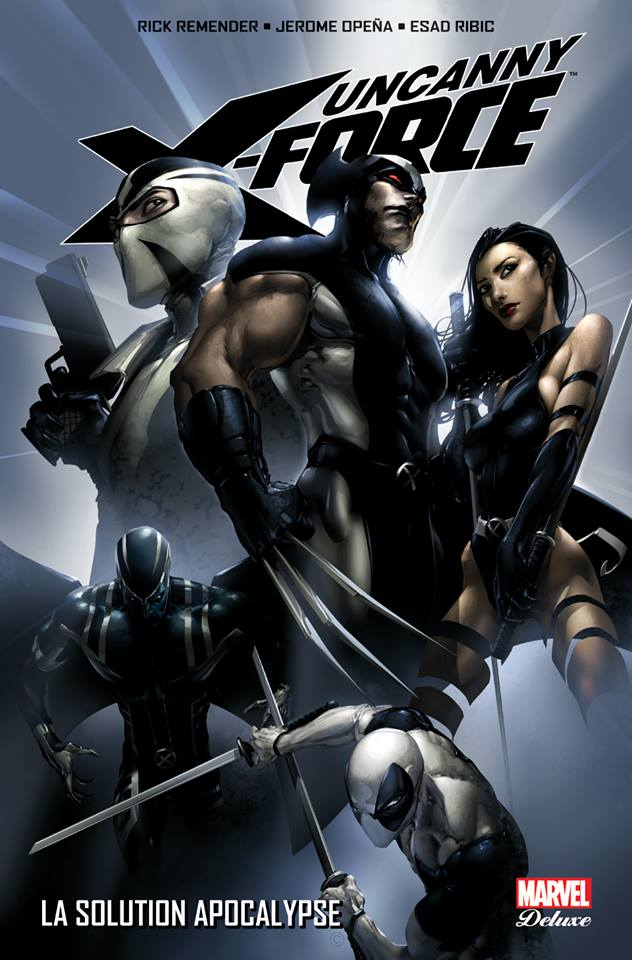 Uncanny X-Force T1 : La solution Apocalypse (0), comics chez Panini Comics de Remender, Tan, Ribic, Elson, Manco, Albuquerque, Opeña, White, Sotomayor, Mounts, Crain