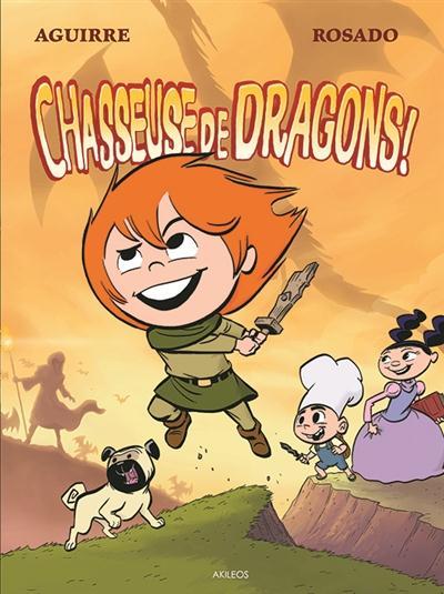 Les chroniques de Claudette T2 : Chasseuse de dragon ! (0), bd chez Akileos de Aguirre, Rosado