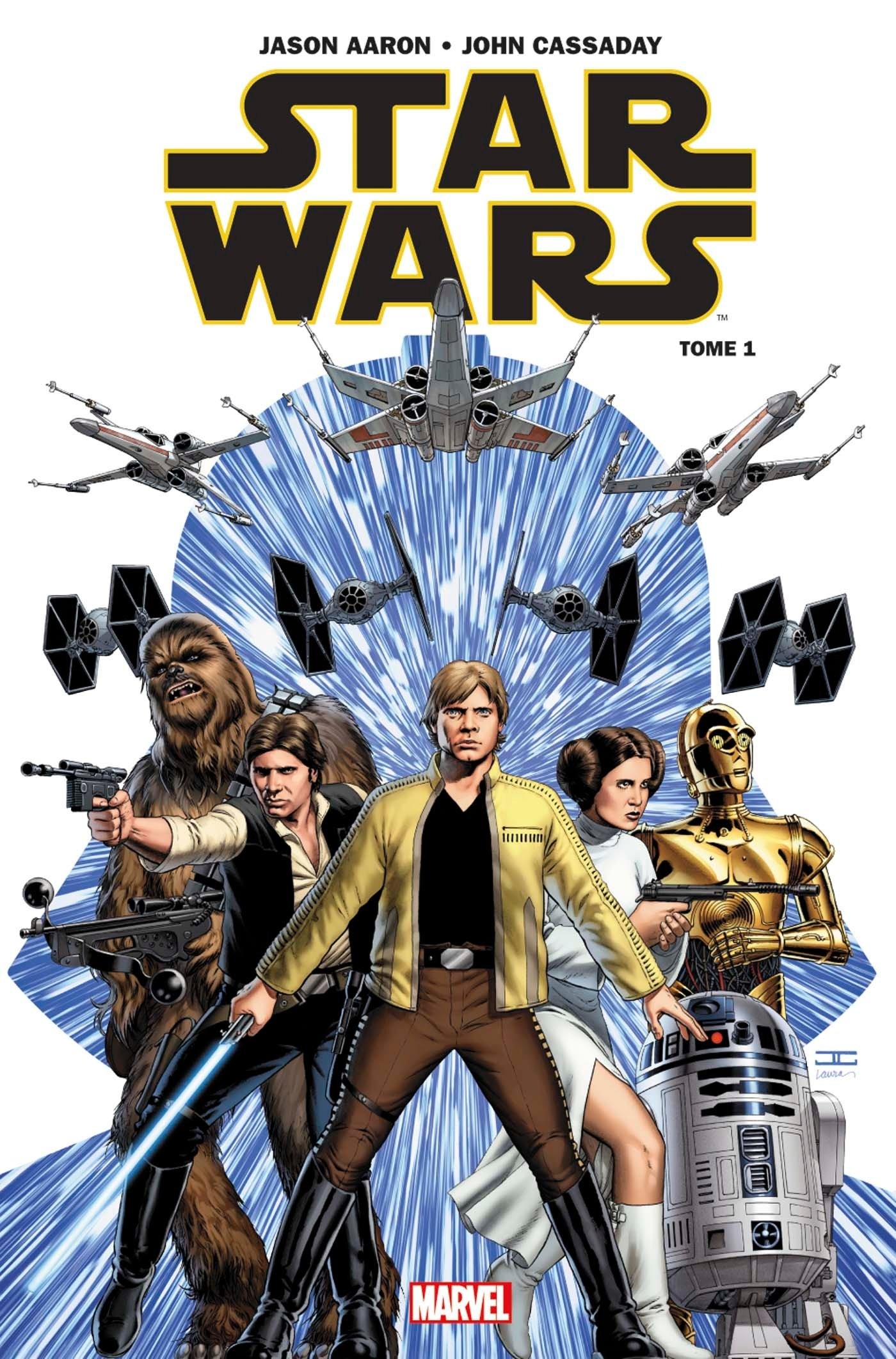 Star Wars T1 : Skywalker passe à l'attaque (0), comics chez Panini Comics de Aaron, Cassaday, Martin