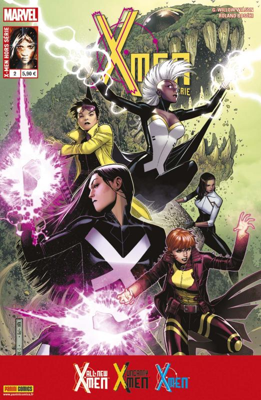 X-Men (revue) – Hors série V 3, T2 : Un monde en flammes (0), comics chez Panini Comics de Wilson, Bendis, Boschi, Sorrentino, Fernandez, Maiolo, Loughridge, Cheung