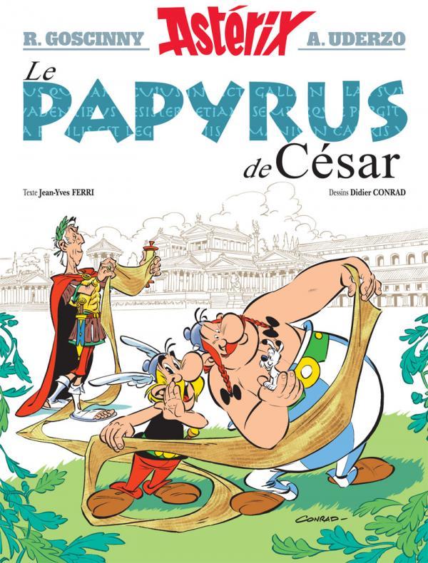 Astérix T36 : Le papyrus de César (0), bd chez Albert René de Ferri, Conrad, Mébarki