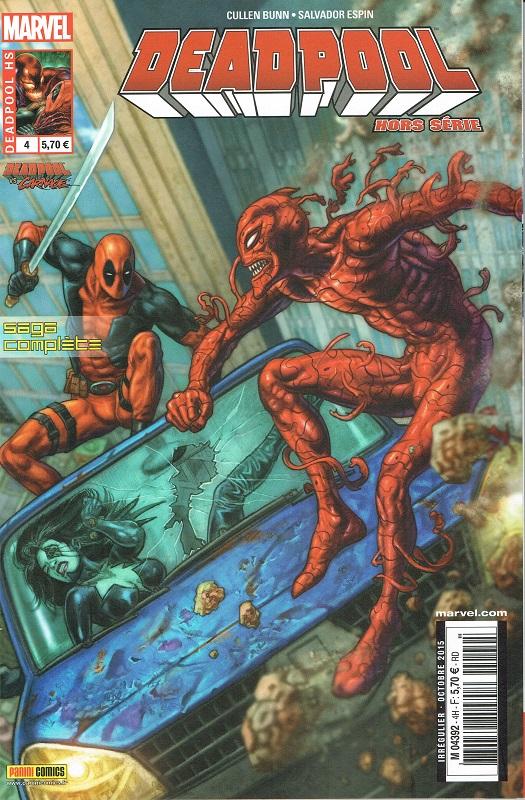 Deadpool (revue) – Hors série, T4 : Deadpool vs. Carnage (0), comics chez Panini Comics de Bunn, Henderson, Jacinto, Espin, Ramos, Gandini, Fabry