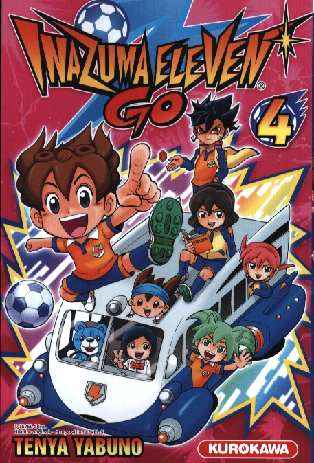 Inazuma eleven GO T4, manga chez Kurokawa de Yabuno, Level-5
