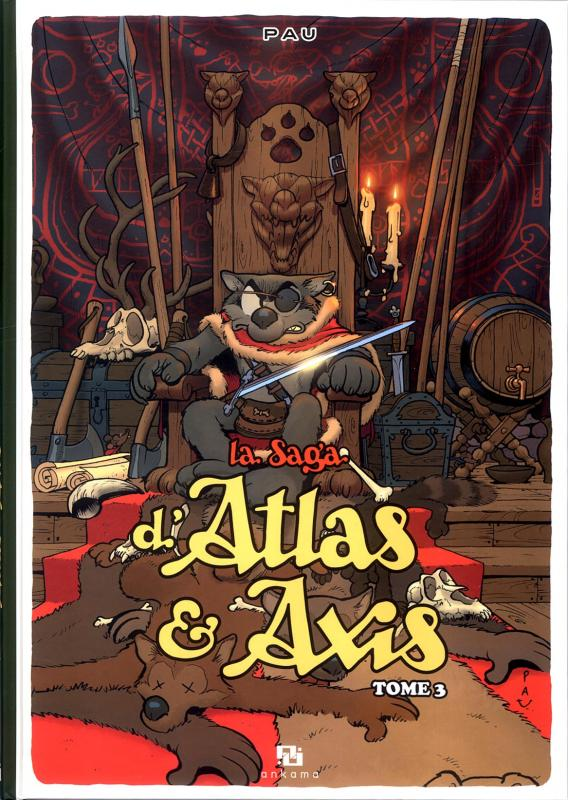 La saga d'Atlas & Axis T3, bd chez Ankama de Pau