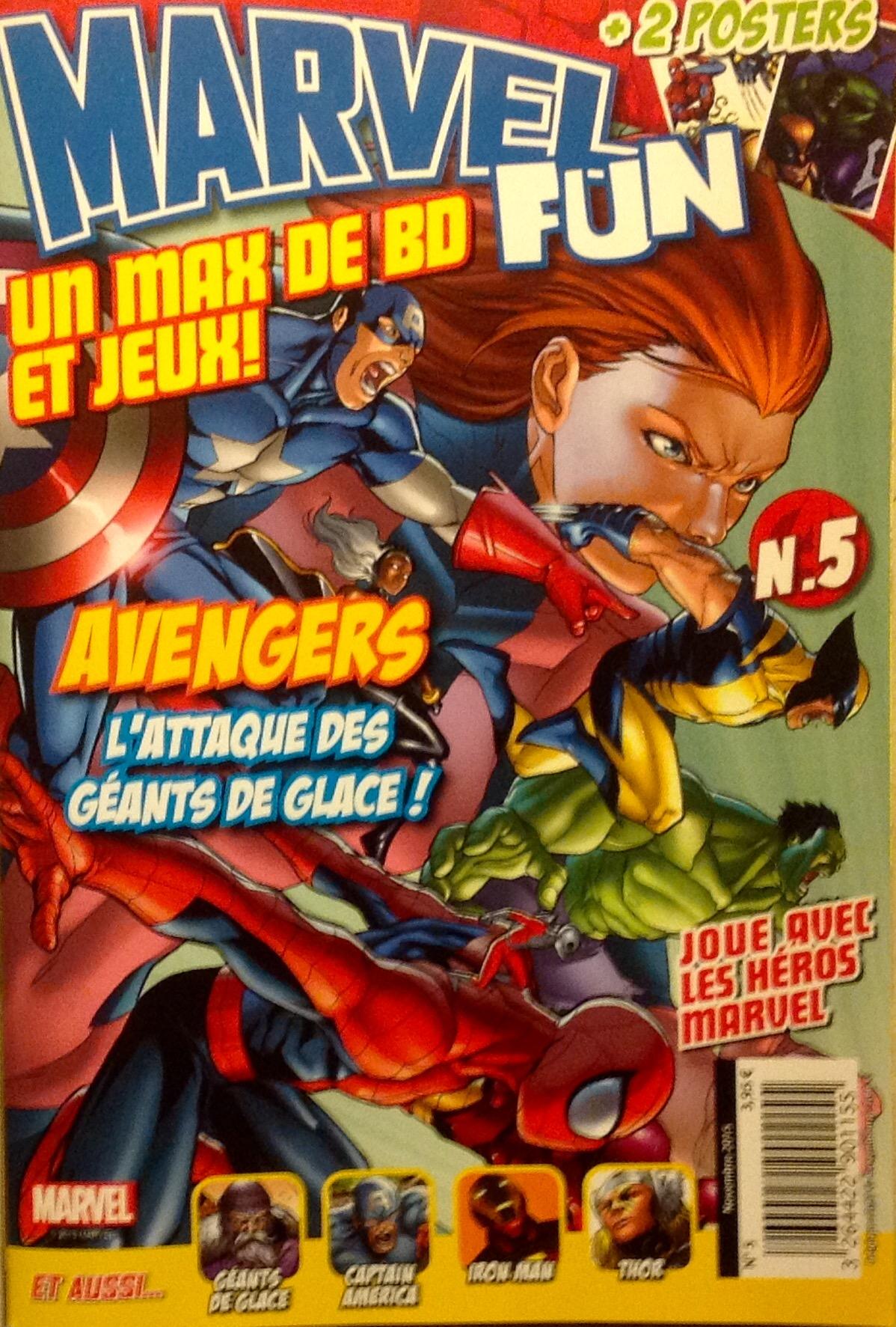 Marvel Fun T5 : Avengers : l'attaque des géants de glace ! (0), comics chez Panini Comics de Bedard, Parker, Gallant, Cafu, Staples, Lucas