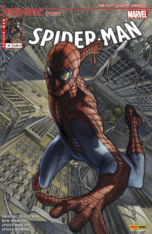 Spider-Man (revue) – V 5, T10 : Spider-Verse (Epilogue) (0), comics chez Panini Comics de Yost, Hopeless, David, Slott, Smith, Leisten, Poggi, Land, Camuncoli, Ford, To, Sliney, Ponsor, Fabela, d' Armata, Redmond, Bianchi