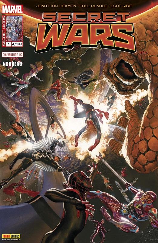 Secret Wars T1 : La fin des temps (0), comics chez Panini Comics de Hickman, Renaud, Ribic, Svorcina, Ross, Cheung