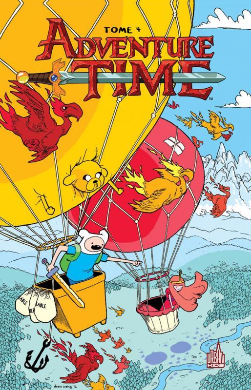 Adventure time T4, comics chez Urban Comics de North, Lamb, Paroline