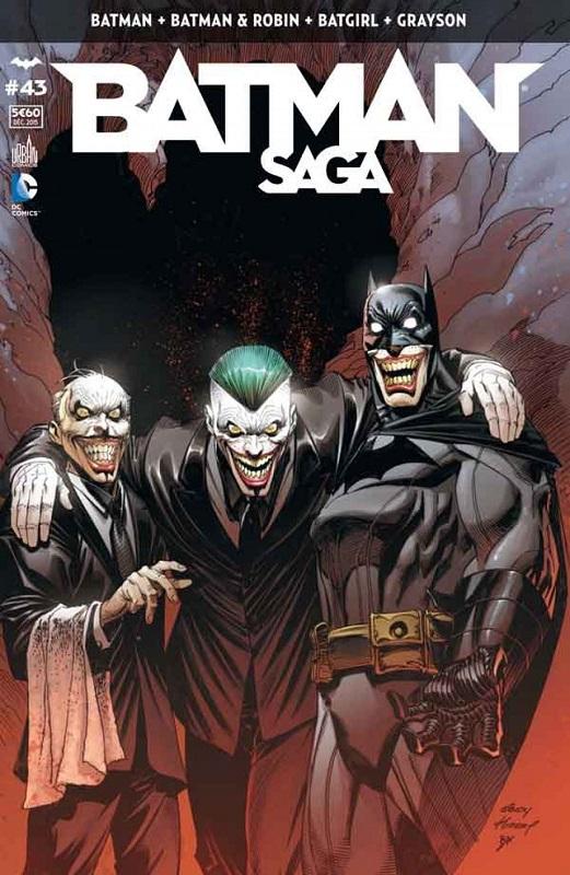 Batman Saga T43, comics chez Urban Comics de King, Stewart, Fletcher, Snyder, Seeley, Tomasi, Capullo, Tarr, Miki, Mooney, Gray, Gleason, FCO Plascencia, Cox, Kalisz, Wicks, Kubert