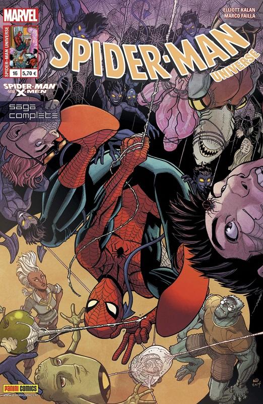 Spider-Man Universe – V. 1, T16 : Spider-Man et les X-Men (0), comics chez Panini Comics de Kalan, Failla, Silva, Saito, Herring, Bradshaw