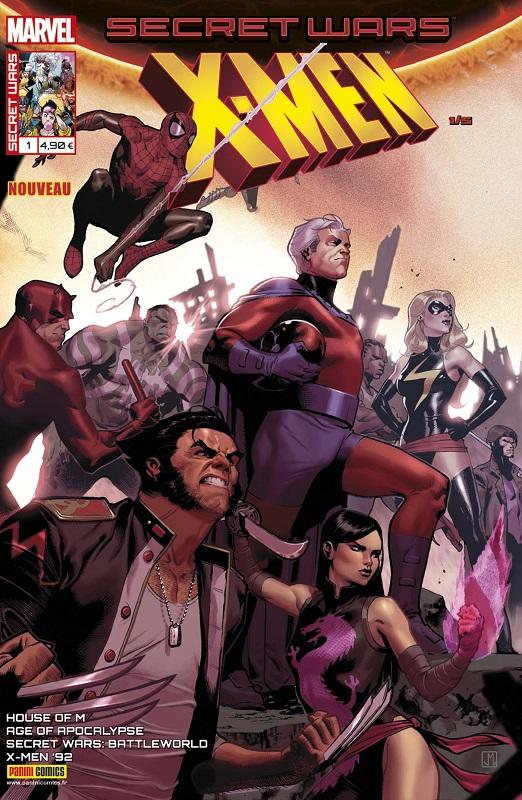 Secret Wars : X-Men T1 : Espérons que vous survivrez à l'expérience (0), comics chez Panini Comics de Hopeless, Williamson, Sims, Nicieza, Henderson, Failla, Koblish, Sandoval, Wilson, Milla, Curiel, Boyd, Molina