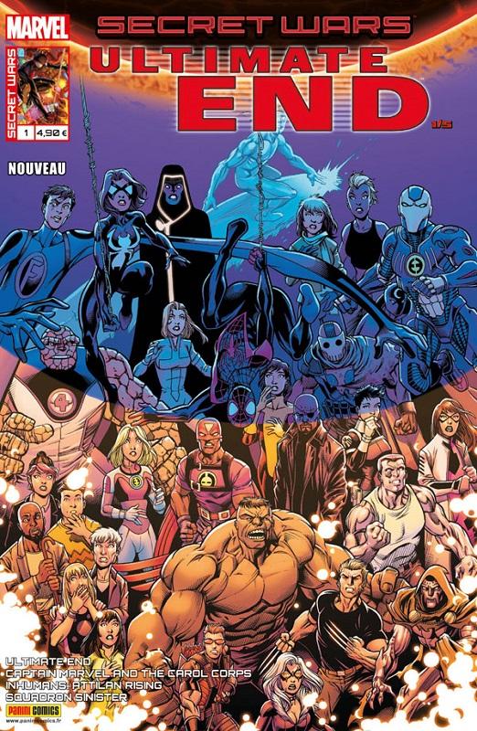 Secret Wars : Ultimate End T1 : Rupture (0), comics chez Panini Comics de Soule, Guggenheim, Thompson, Bendis, Deconnick, Pacheco, Lopez, Bagley, Timms, d' Armata, Martin jr, Ponsor
