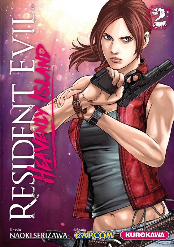 Resident evil - heavenly island T2, manga chez Kurokawa de Capcom , Serizawa