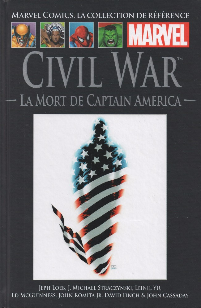 Marvel Comics, la collection de référence T53 : Civil War - La mort de Captain America (0), comics chez Hachette de Loeb, Brubaker, Cassaday, Finch, McGuinness, Yu, Epting, Romita Jr, Janson, Hollowell, Martin, McCaig, Keith, d' Armata, Ross