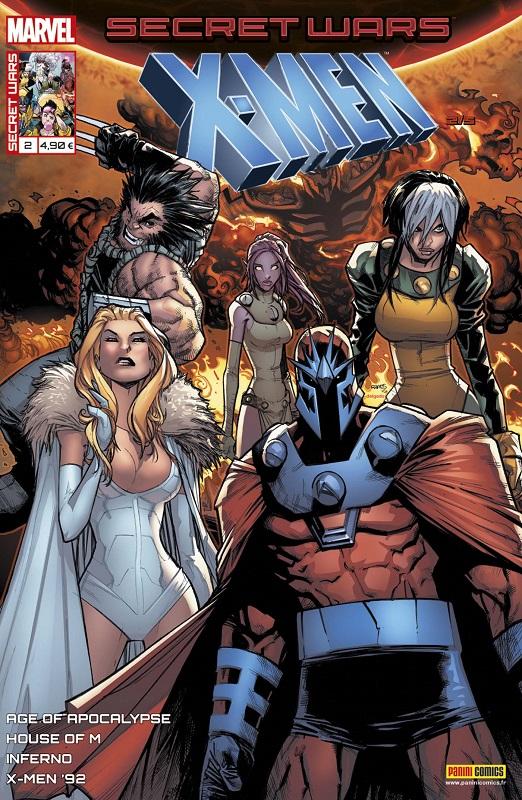 Secret Wars : X-Men T2 : Destruction mutuelle assurée (0), comics chez Panini Comics de Bowers, Nicieza, Sims, Hopeless, Sandoval, Koblish, Garron, Failla, Wilson, Milla, Sotomayor, Curiel, Ramos