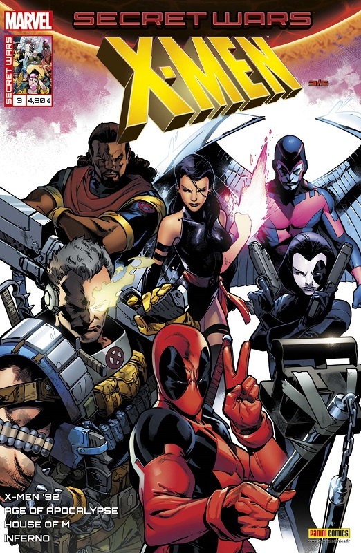 Secret Wars : X-Men T3 : Manipulations (0), comics chez Panini Comics de Hopeless, Bowers, Bunn, Nicieza, Sims, Anindito, Koblish, Garron, Sandoval, Milla, Sotomayor, Curiel, Wilson, Larraz