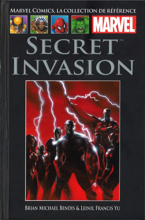 Marvel Comics, la collection de référence T56 : Secret Invasion (0), comics chez Hachette de Bendis, Yu, Morales, Warren, Martin, Dell'otto