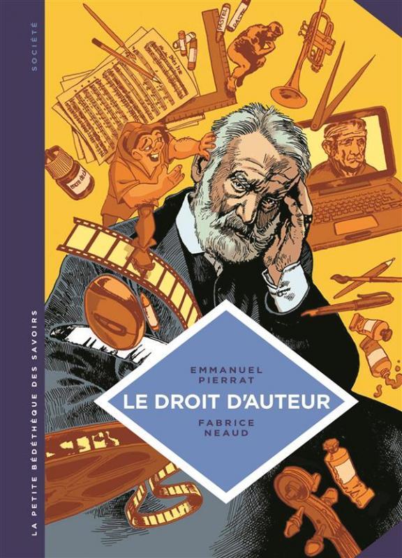 La Petite bédéthèque des savoirs T5 : Le droit d'auteur (0), bd chez Le Lombard de Pierrat, Neaud
