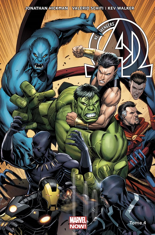 The New Avengers (vol.3) T4 : Un monde parfait (0), comics chez Panini Comics de Hickman, Larroca, Walker, Schiti, Martin jr, Mounts, Keown