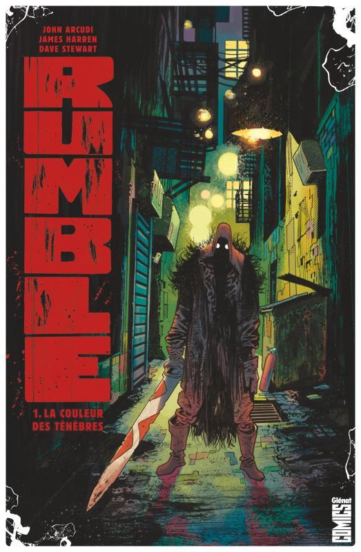 Rumble T1 : La couleur des ténèbres (0), comics chez Glénat de Arcudi, Harren, Stewart