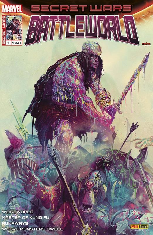 Secret Wars : Battleworld T4 : La Reine des Hommes-Choses (0), comics chez Panini Comics de Stevenson, Ennis, Blackman, Aaron, Braun, Greene, Del Mundo, Talajic, Sudzuka, Rauch, D'Alfonso, Almara, Mrva