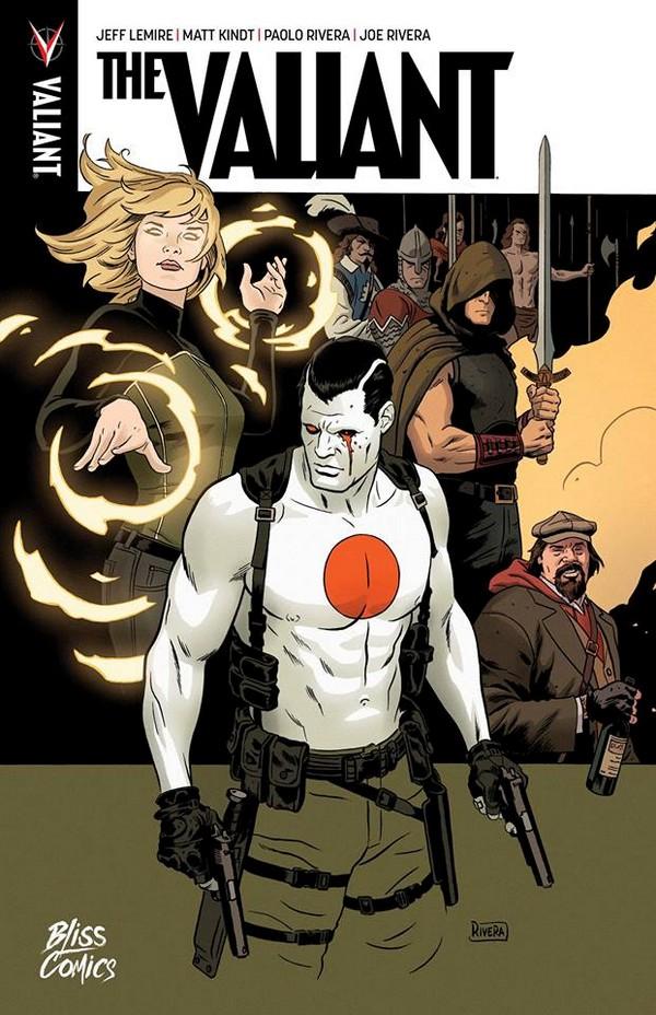 The Valiant, comics chez Bliss Comics de Lemire, Kindt, Rivera, Rivera