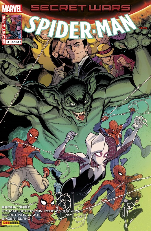 Secret Wars : Spider-Man T4 : L'ennemi intérieur (0), comics chez Panini Comics de Gage, David, DeFalco, Frenz, Costa, Slott, Hanna, Buscema, Sliney, Kubert, Diaz, Araujo, Fabela, Ponsor, d' Armata, Crossley, Rosenberg, Bradshaw