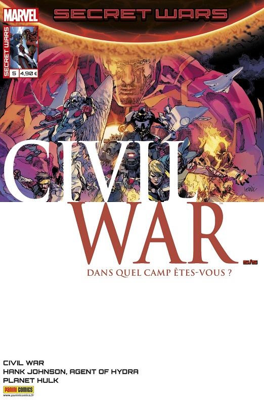 Secret Wars : Civil War T5 : Résolution (0), comics chez Panini Comics de Mandel, Soule, Humphries, Walsh, Yu, Laming, Milla, Gho, Wilson, Boyd