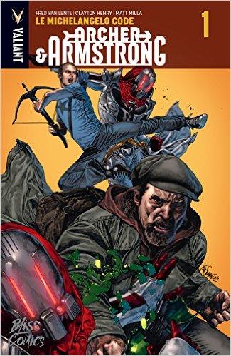 Archer & Armstrong T1 : Le Michaelangelo code (0), comics chez Bliss Comics de Van Lente, Pérez, Henry, Milla, Suayan