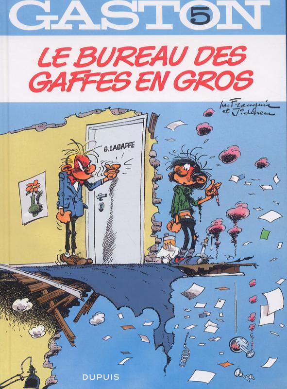 Gaston T5 : Le bureau des gaffes en gros (0), bd chez Dupuis de Franquin, Jidéhem
