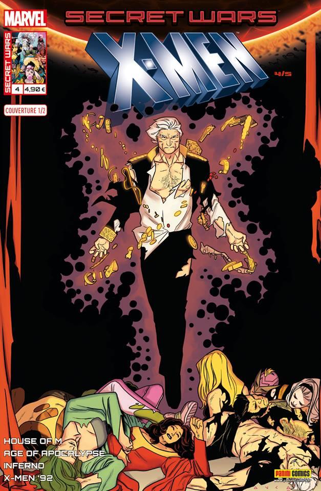 Secret Wars : X-Men T4 : Le meilleur des mondes (0), comics chez Panini Comics de Sims, Bunn, Nicieza, Hopeless, Koblish, Anindito, Garron, Coello, Curiel, Wilson, Milla, Sotomayor, Anka, Bradshaw