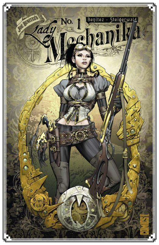 Lady Mechanika T1 : Le mystère du corps mécanique (1ère partie) (0), comics chez Glénat de Benitez, Steigerwald