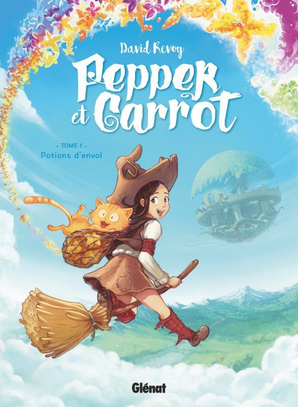 Pepper et Carrot T1 : Potions d'envol (0), bd chez Glénat de Revoy