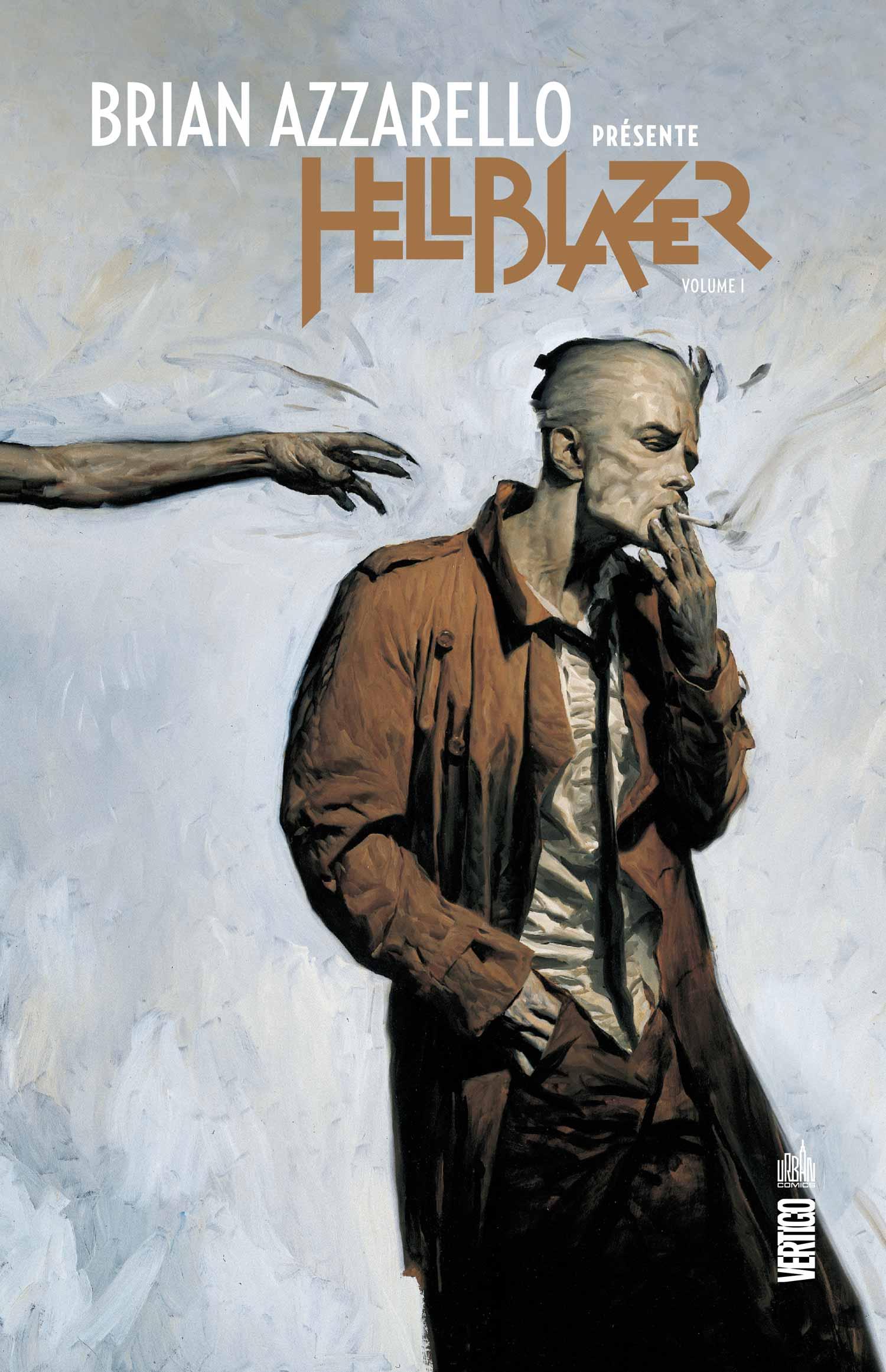 Brian Azzarello présente Hellblazer T1, comics chez Urban Comics de Azzarello, Taylor, Frusin, Dillon, Corben, Jamison, Loughridge, Digital Chameleon, Hale