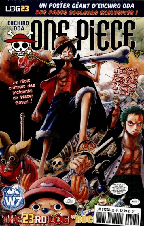 One Piece - Log Books T23 : Rocketman (0), manga chez Hachette de Oda