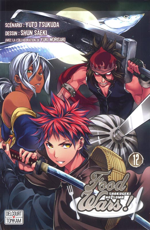 Food wars  T12, manga chez Tonkam de Tsukuda, Saeki