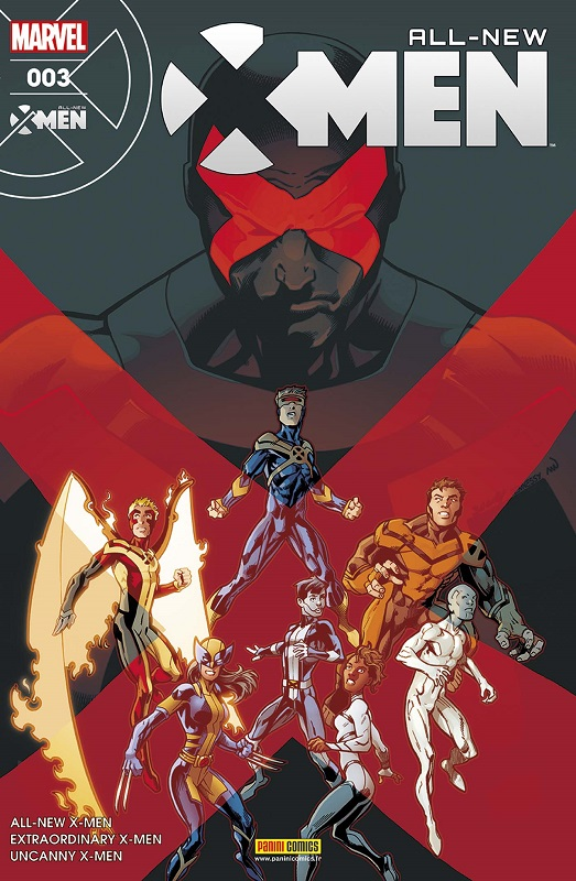 All-New X-Men T3 : Egratignures (0), comics chez Panini Comics de Hopeless, Lemire, Bunn, Ramos, Bagley, Land, Delgado, Woodard