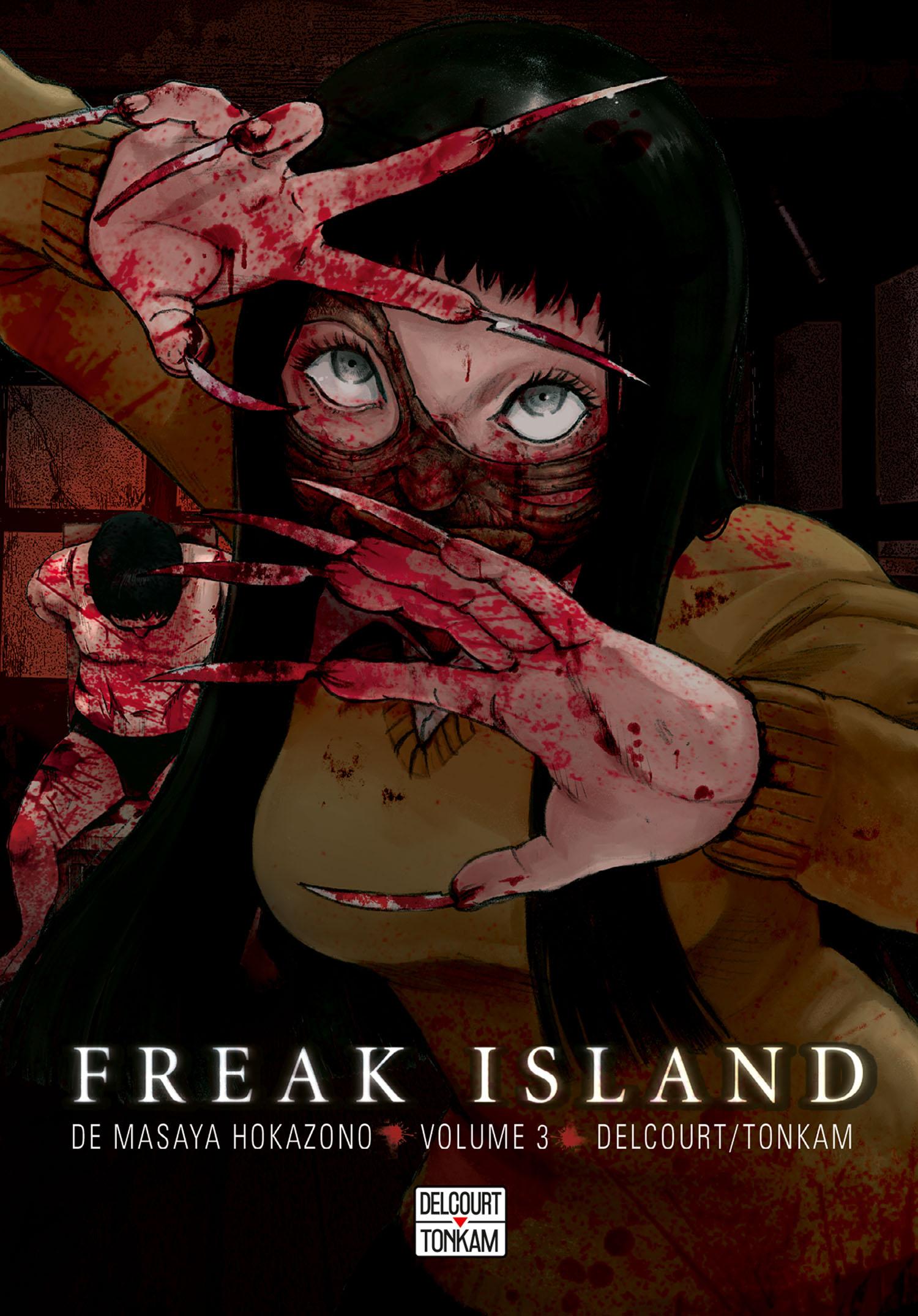 Freak island  T3, manga chez Delcourt de Hokazono