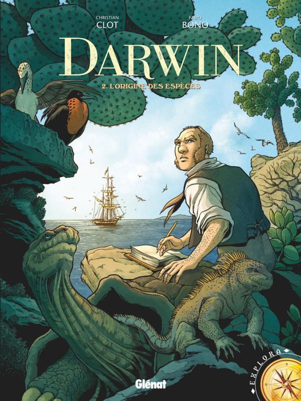 Darwin T2 : L'origine des espèces, bd chez Glénat de Clot, Bono, Fogolin