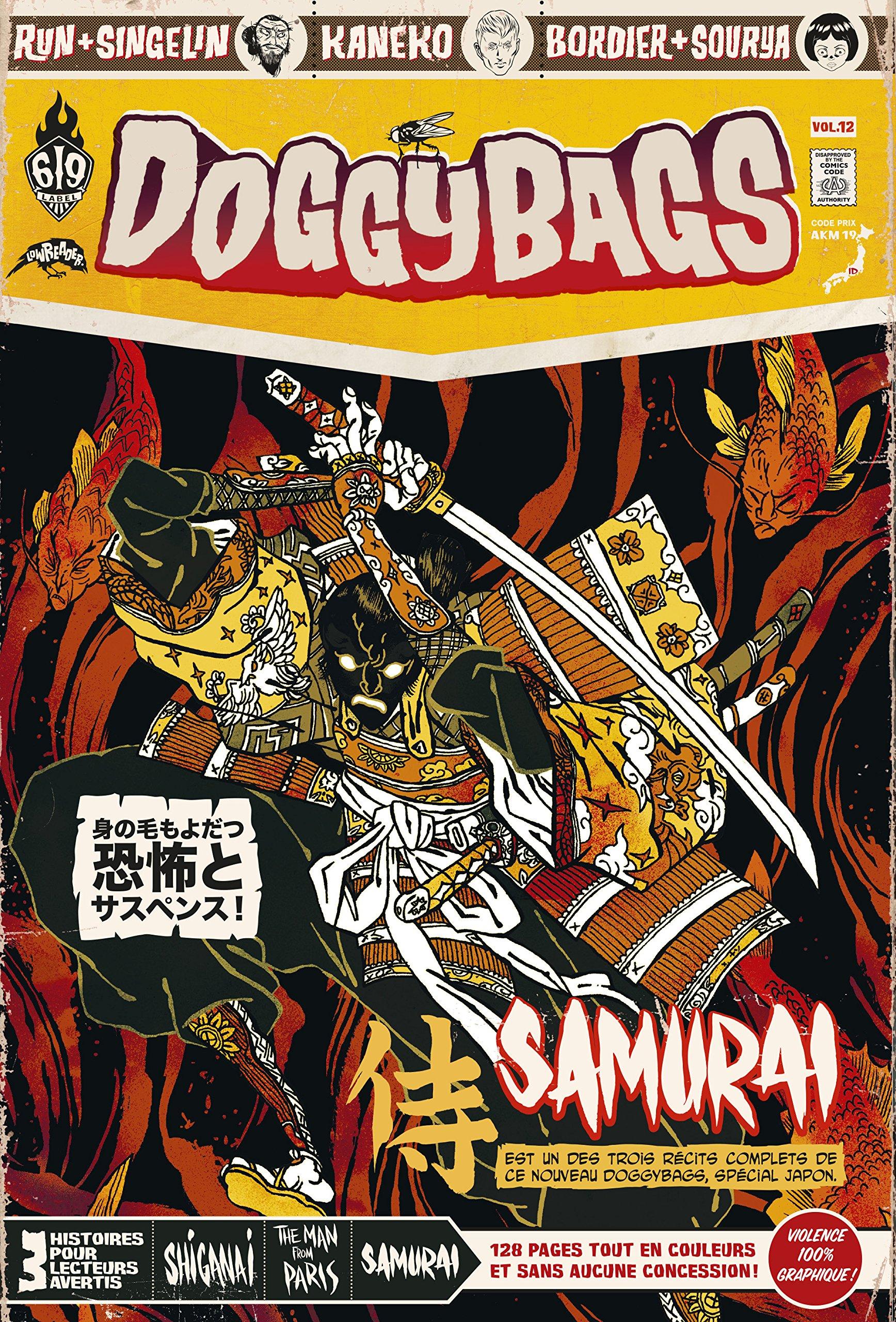 Doggybags T12 : Shiganai / The Man from Paris / Samurai (0), comics chez Ankama de Bordier, Kaneko, Run, Singelin, Yuck, Sihachakr