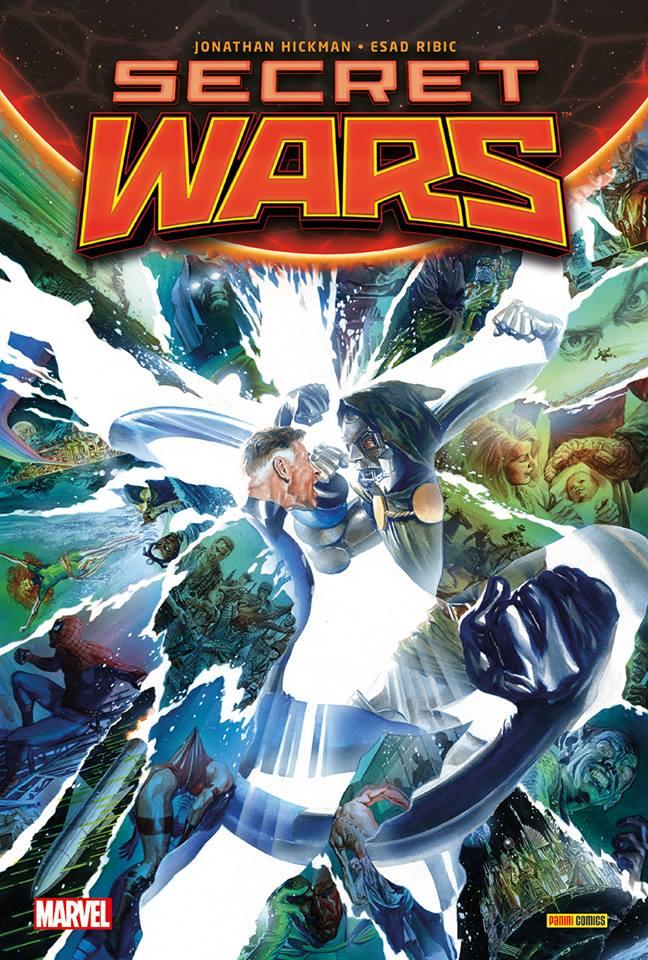 Secret Wars, comics chez Panini Comics de Leth, Ewing, Hickman, Ribic, Villalobos, Shalvey, Renaud, Browne, Powell, Guillory, Aragones, Svorcina, Ross