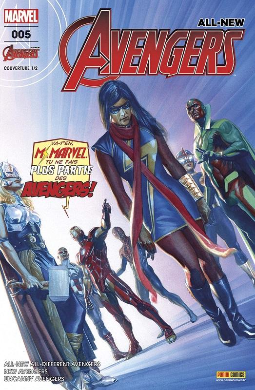 All-New Avengers (revue) T5 : Effrayante symétrie (0), comics chez Panini Comics de Waid, Duggan, Ewing, Sandoval, Pacheco, Cassara, Bagley, Noto, Asrar, Rosenberg, Isanove, McCaig, Almara, Ross