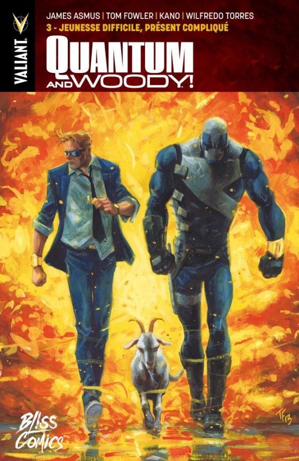 Quantum and Woody T3 : Jeunesse difficile, présent compliqué (0), comics chez Bliss Comics de Asmus, Fowler, Henderson, Torres, Kano, Cooper, Baron, Bellaire, Passalaqua