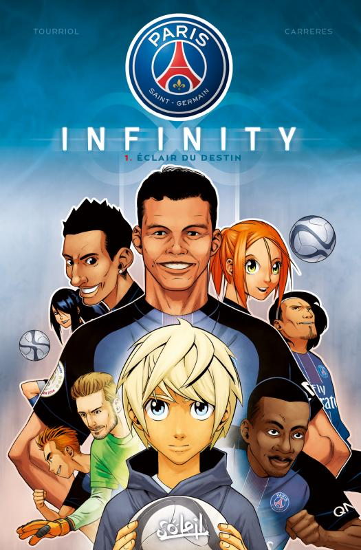 Paris Saint-Germain Infinity T1 : Eclair du destin (0), manga chez Soleil de Tourriol, Albert Cg, Vigneau