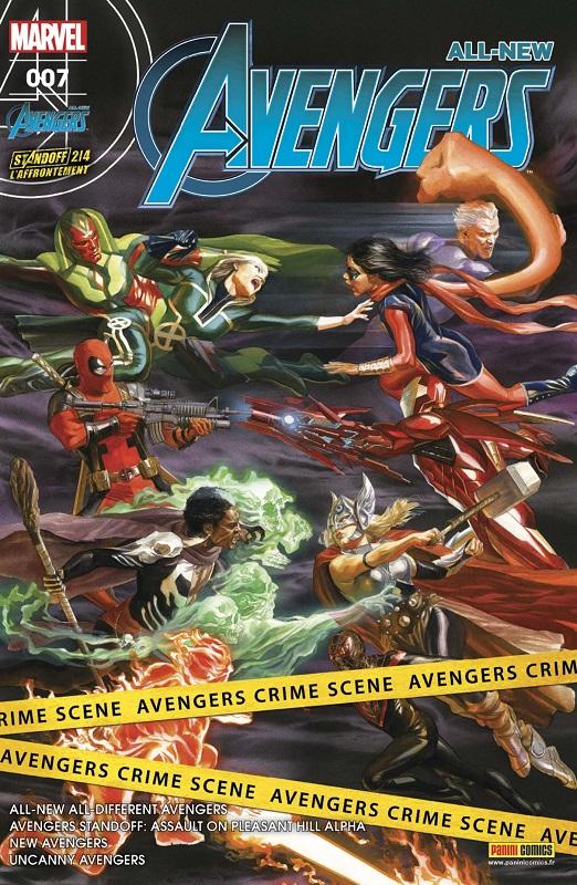 All-New Avengers T7 : L'affrontement (2/4), comics chez Panini Comics de Duggan, Spencer, Ewing, Waid, Stegman, To, Kubert, Saiz, Almara, Isanove, Oback, Ortego, Delgado, Fajardo Jr, Ross