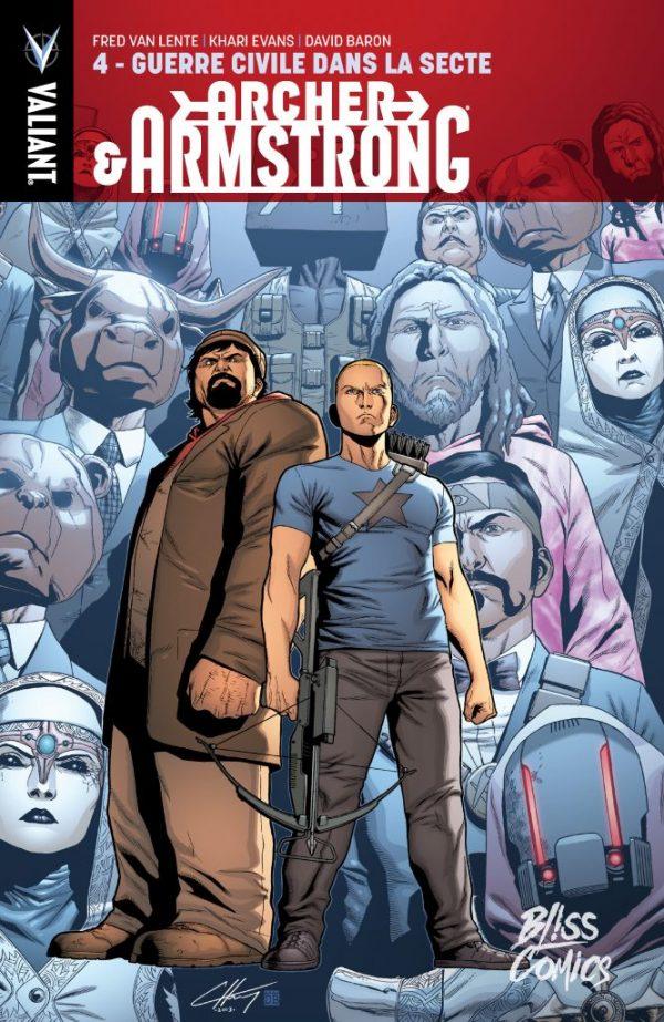 Archer & Armstrong T4 : Guerre civile dans la secte (0), comics chez Bliss Comics de Van Lente, Evans, Baron