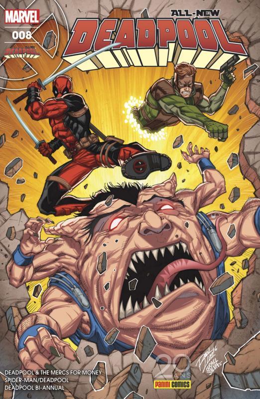 All-New Deadpool (revue) T8 : On n'est pas des bêtes ! (0), comics chez Panini Comics de Scheer, Kelly, Giovannetti, Bunn, McGuinness, Espin, Keith, Gandini, Guru efx, Lim