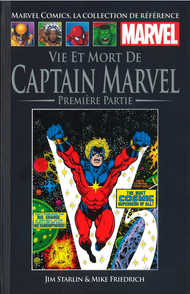 Marvel Comics, la collection de référence – Classic, T22 : Vie et mort de Captain Marvel - 1ère partie (0), comics chez Hachette de Friedrich, Starlin, Cockrum, Collectif