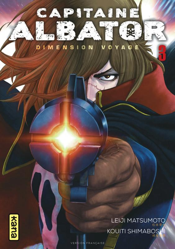Capitaine Albator Dimension voyage T3, manga chez Kana de Matsumoto, Shimaboshi
